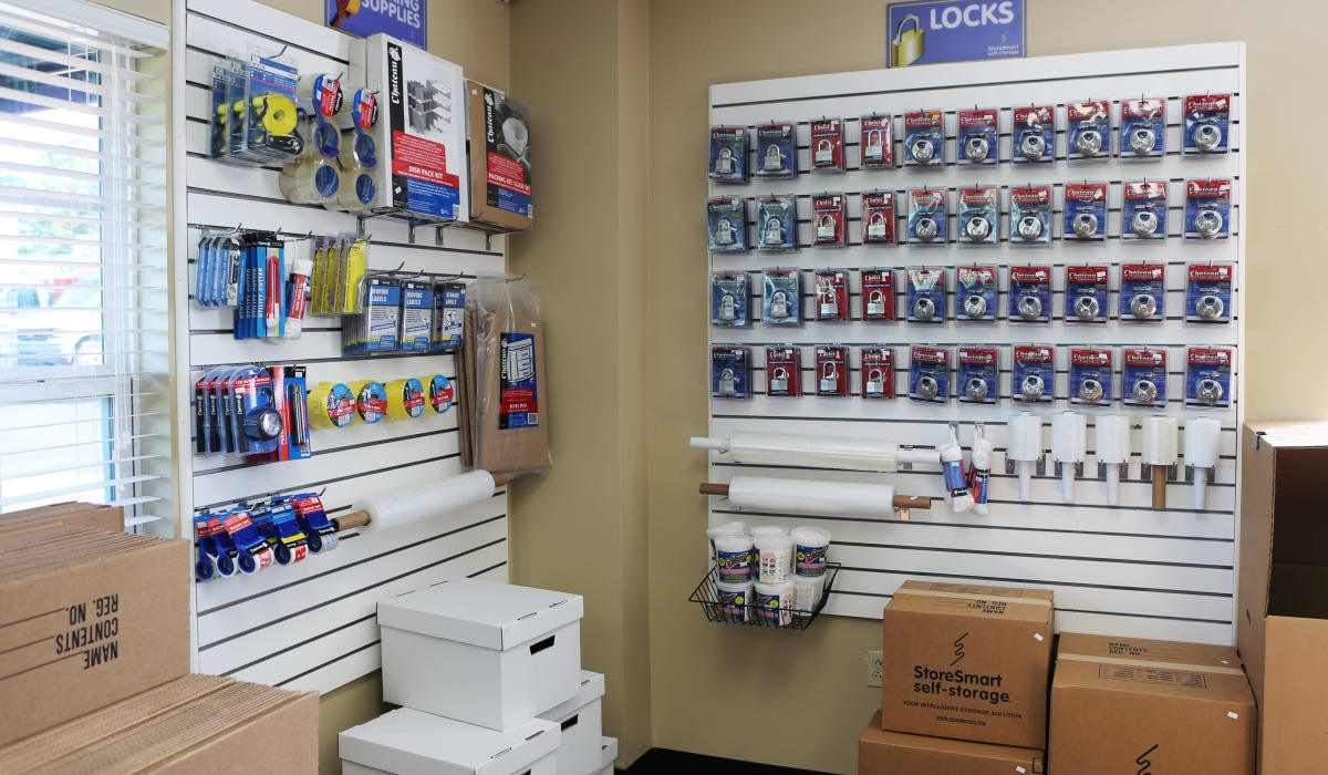 Supplies for sale at StoreSmart Self-Storage in Conway, Arkansas