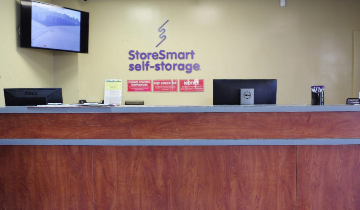 Security monitor at StoreSmart Self-Storage in Conway, Arkansas