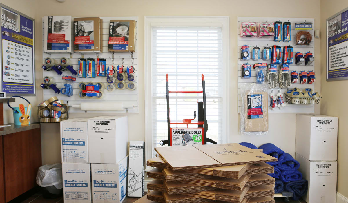 Boxes at StoreSmart Self-Storage in Watkinsville, Georgia