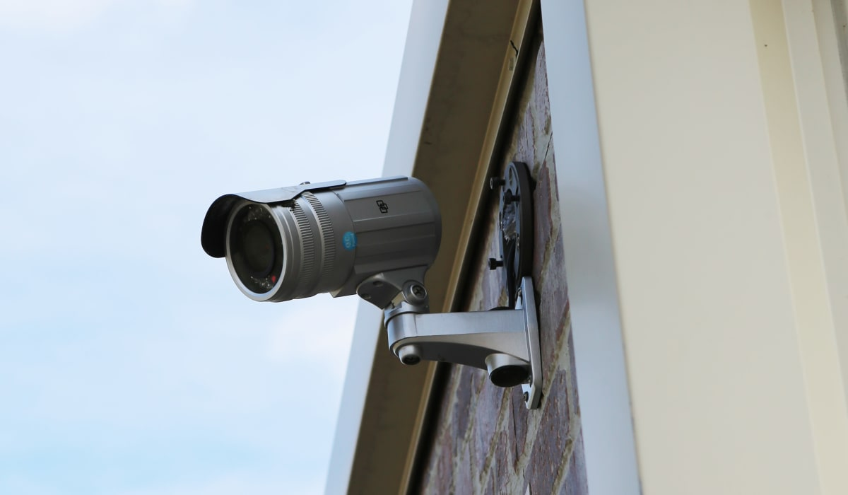 Security camera at StoreSmart Self-Storage in Watkinsville, Georgia