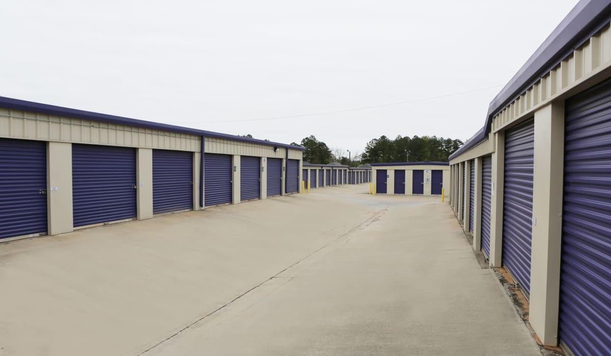 Ground-floor units at StoreSmart Self-Storage in Warner Robins, Georgia