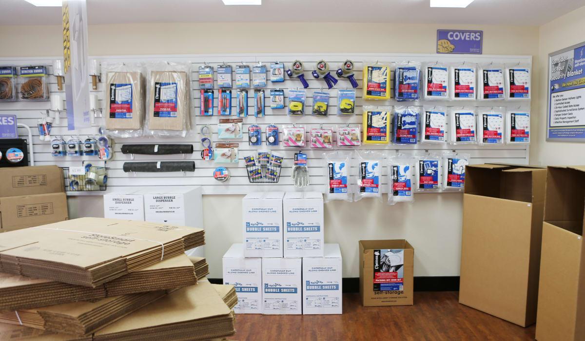 Supplies at StoreSmart Self-Storage in Warner Robins, Georgia