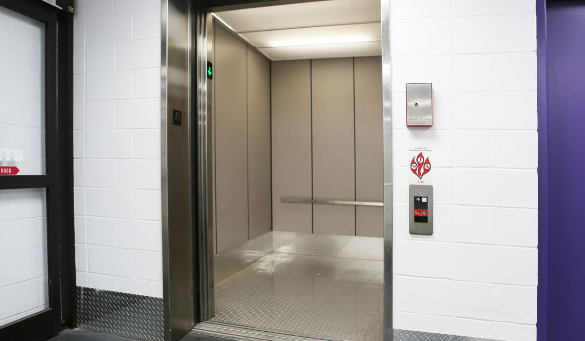 Elevator access at StoreSmart Self-Storage in Warner Robins, Georgia