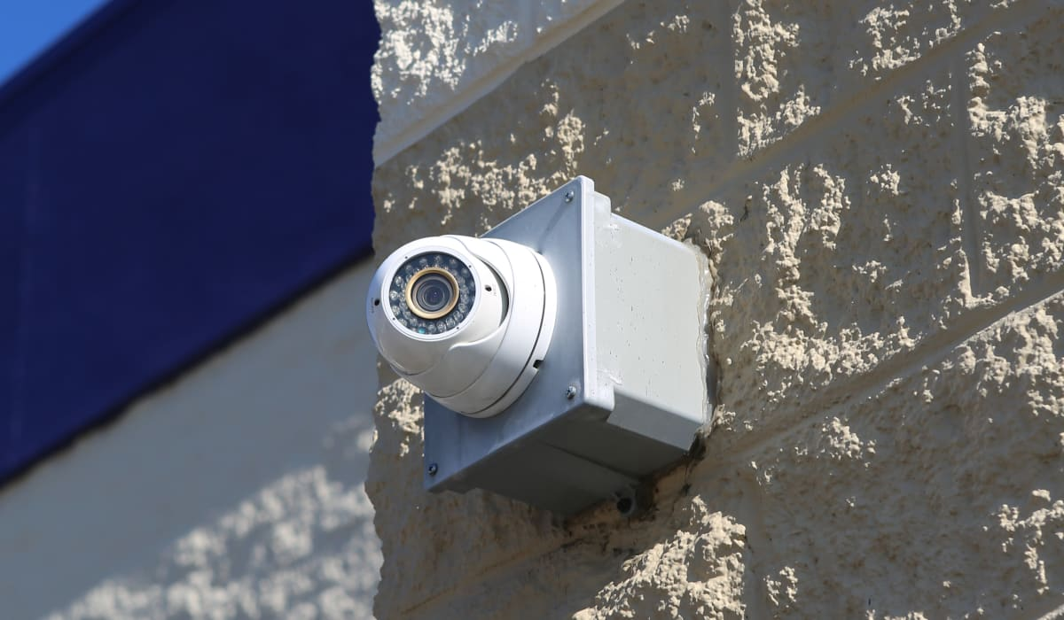 Side-mounted camera at StoreSmart Self-Storage in Spring Lake, North Carolina