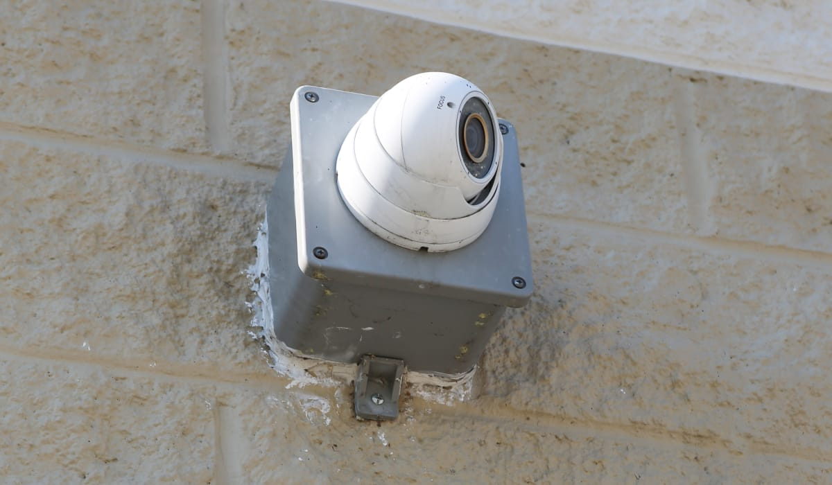 Security camera at StoreSmart Self-Storage in Spring Lake, North Carolina