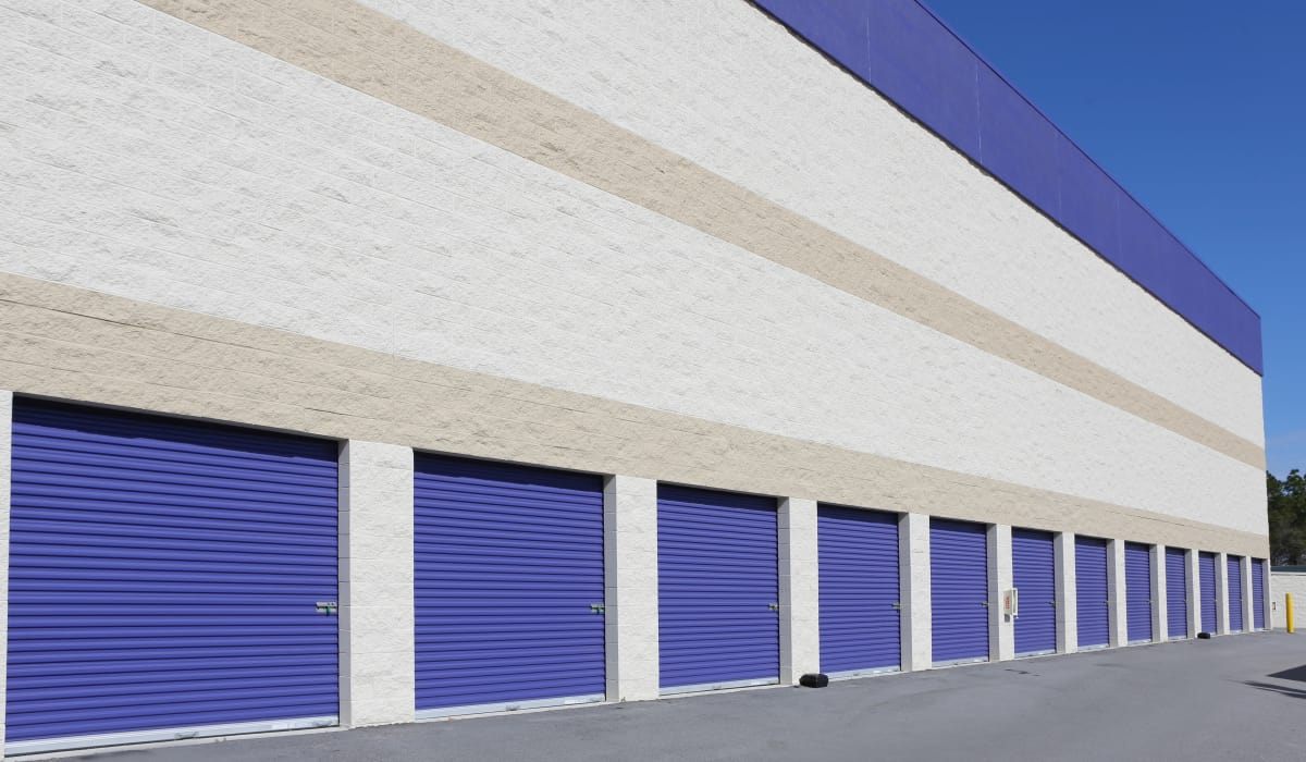 Drive-up units at StoreSmart Self-Storage in Spring Lake, North Carolina
