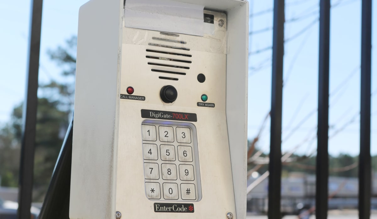 Keypad at StoreSmart Self-Storage in Spring Lake, North Carolina