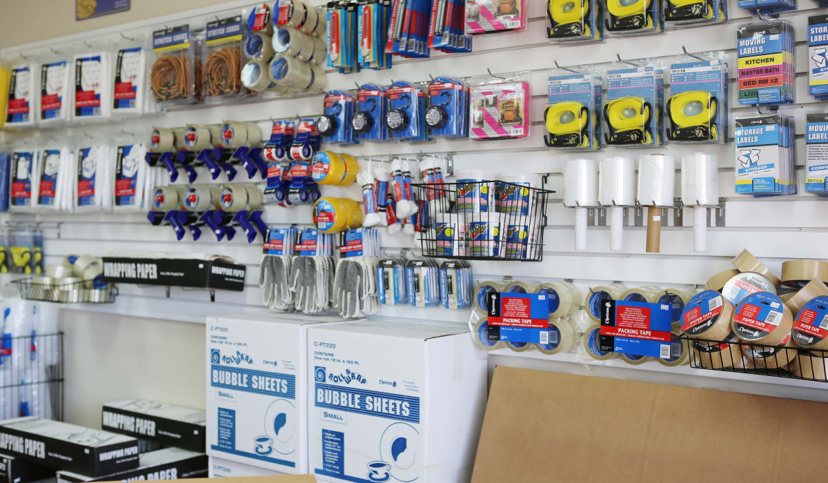 Packing supplies at StoreSmart Self-Storage in Spring Hill, Florida