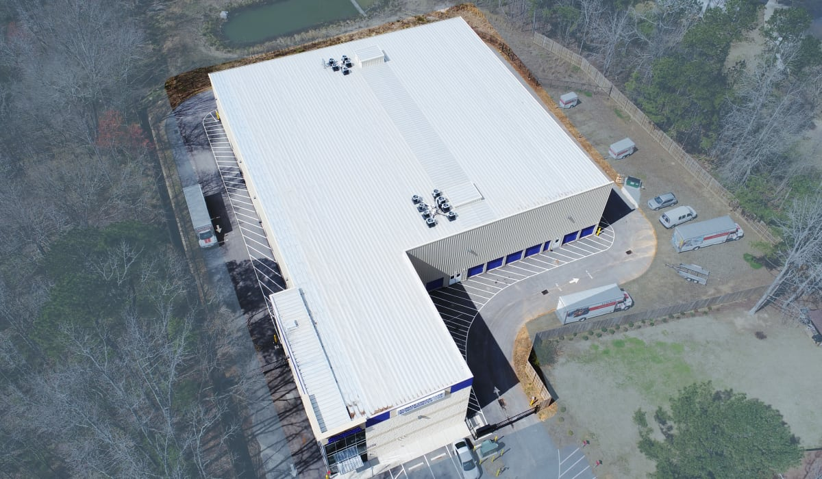 Aerial view of StoreSmart Self-Storage in Raleigh, North Carolina