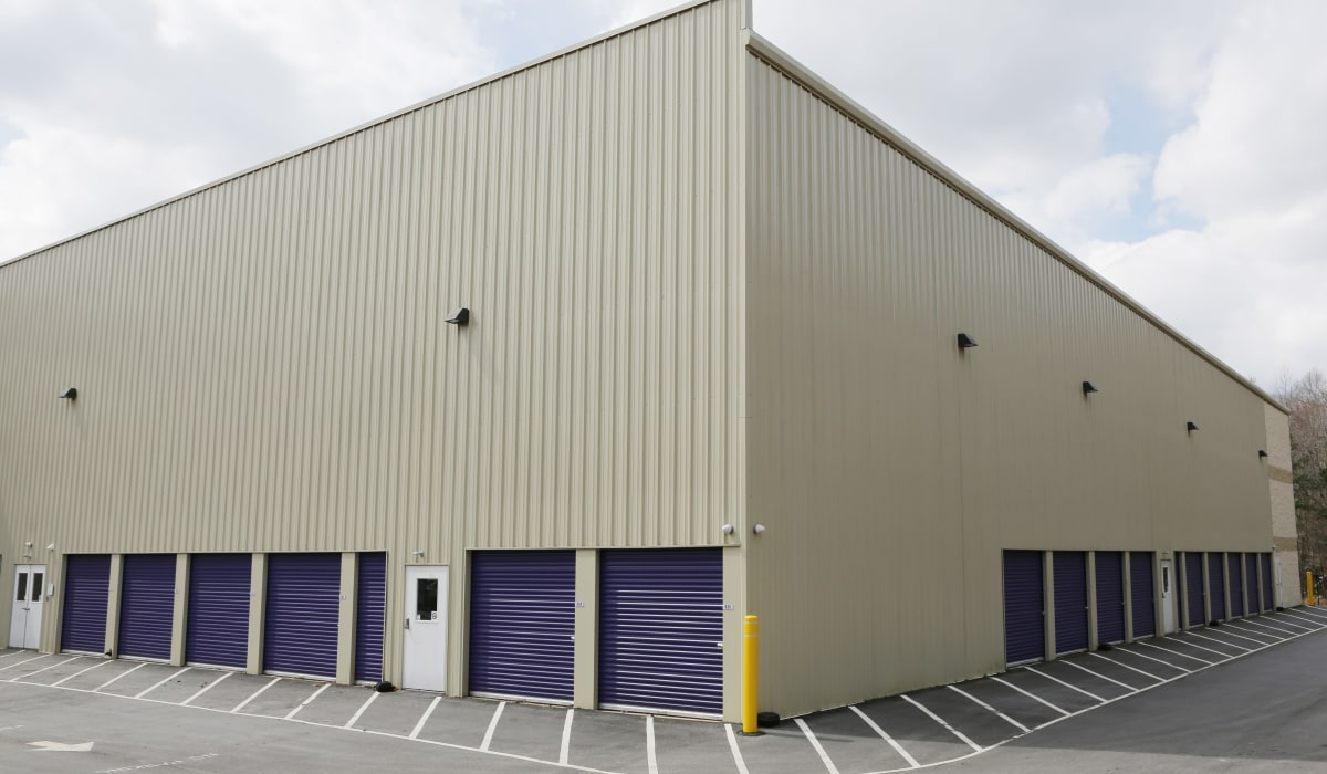 Drive-up units at StoreSmart Self-Storage in Raleigh, North Carolina
