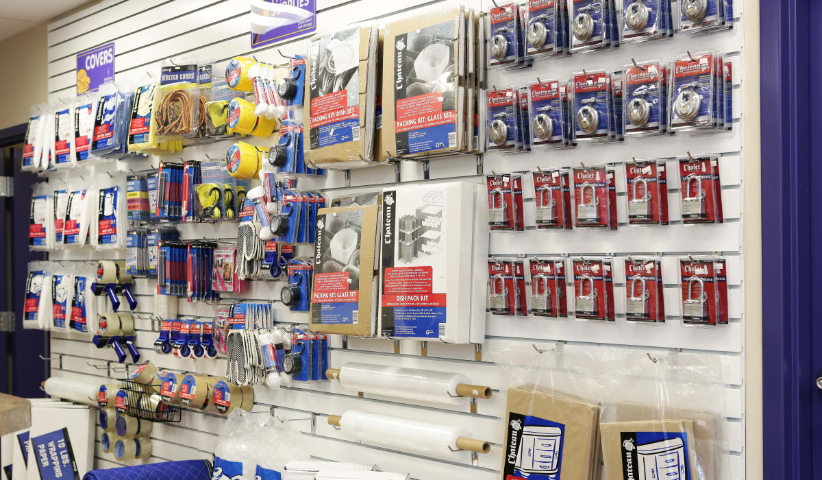 Supplies at StoreSmart Self-Storage in Raleigh, North Carolina