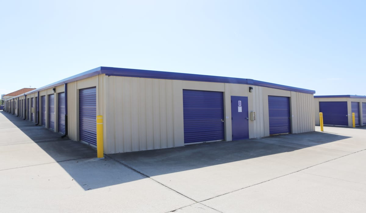 Exterior units at StoreSmart Self-Storage in Rockledge, Florida