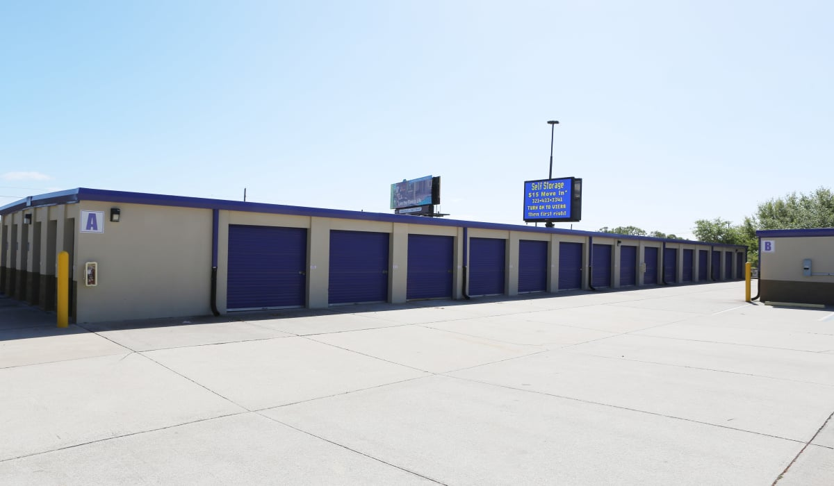 Ground-floor units at StoreSmart Self-Storage in Rockledge, Florida