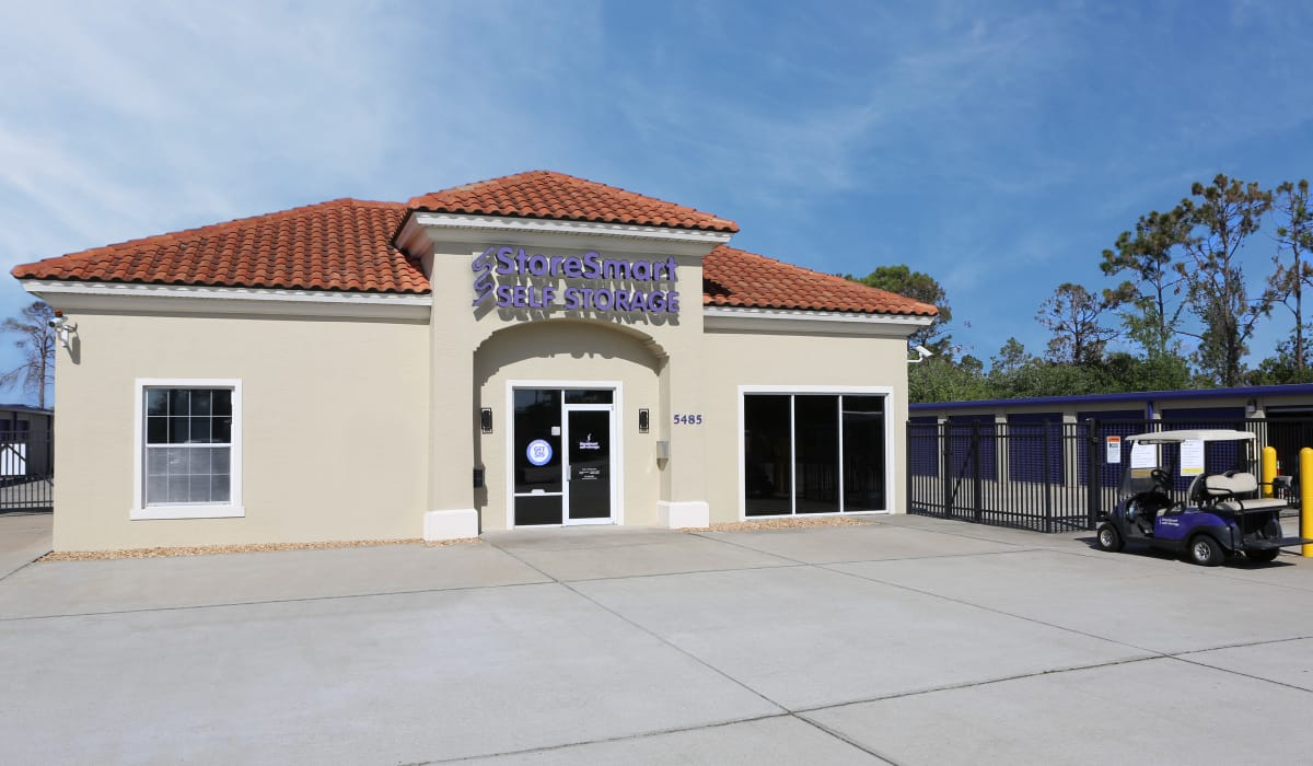 Entrance at StoreSmart Self-Storage in Rockledge, Florida