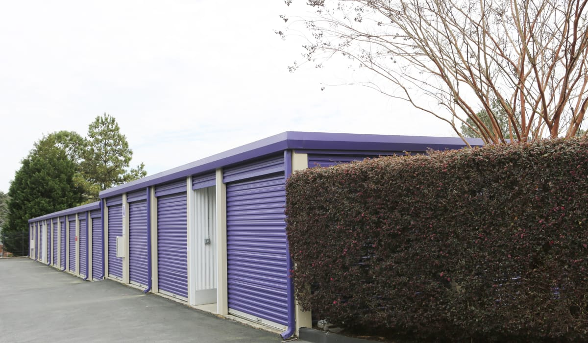 Units with roll-up doors at StoreSmart Self-Storage in Riverdale, Georgia
