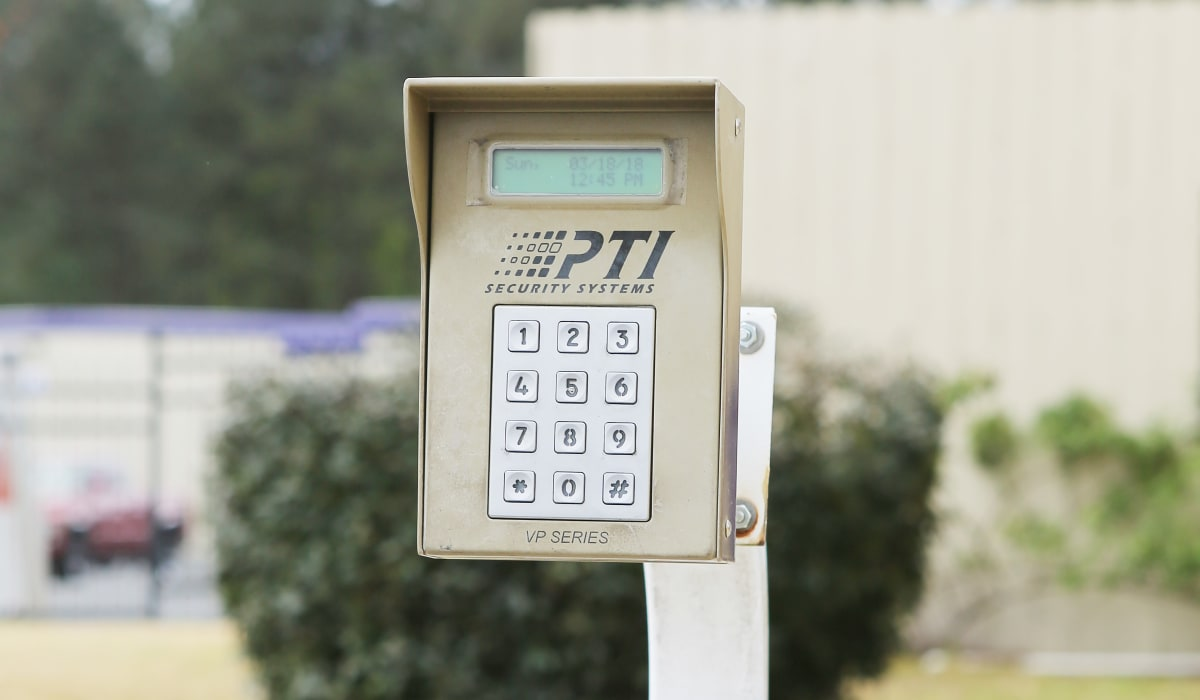 Keypad at StoreSmart Self-Storage in Riverdale, Georgia