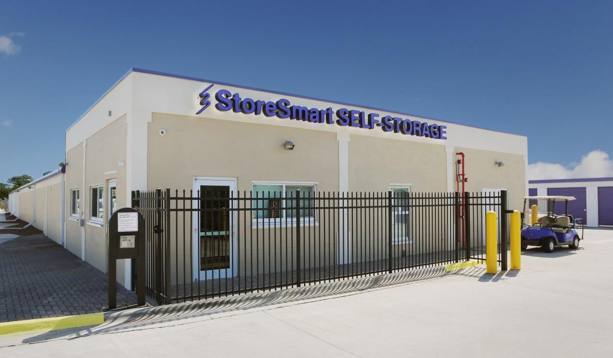 Front of StoreSmart Self-Storage in Melbourne, Florida