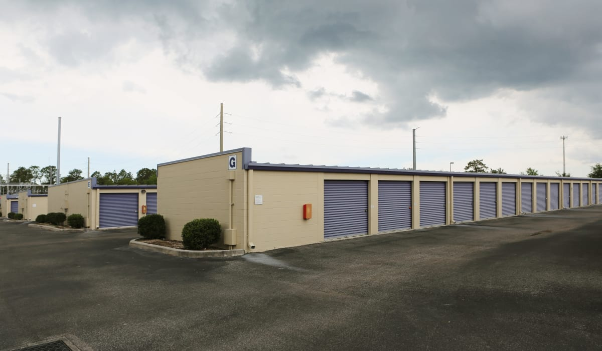 Drive-up units at StoreSmart Self-Storage in Spring Hill, Florida