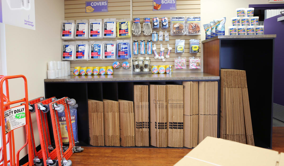 Supplies at StoreSmart Self-Storage in Spring Hill, Florida