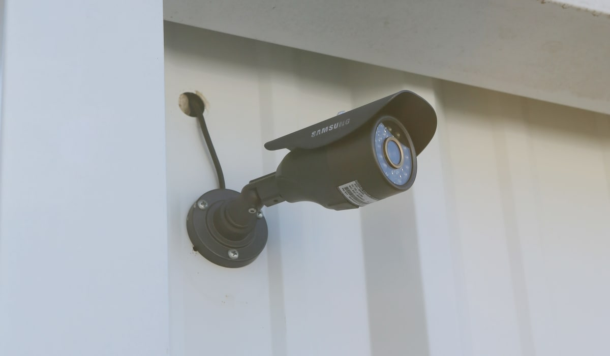 Security camera at StoreSmart Self-Storage in Summerville, South Carolina