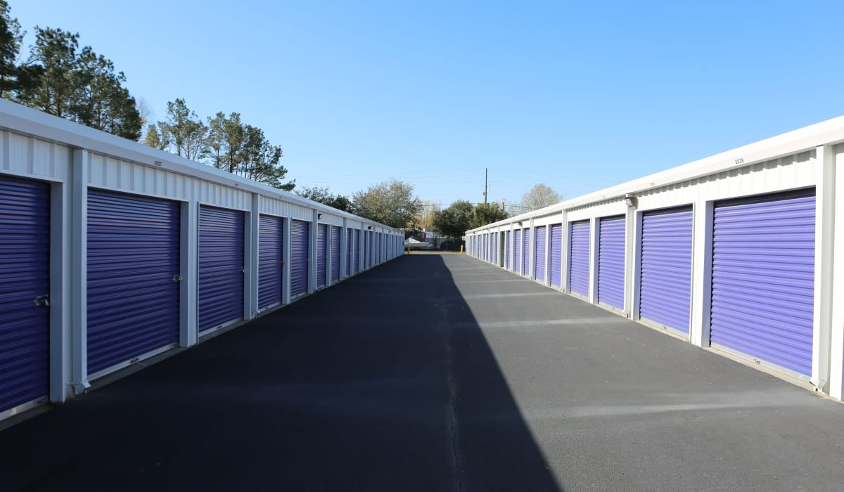 Wide driveways at StoreSmart Self-Storage in Summerville, South Carolina