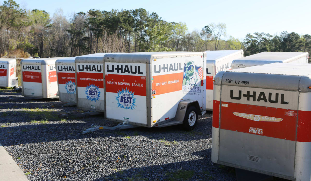 Trailers for rent at StoreSmart Self-Storage in Summerville, South Carolina