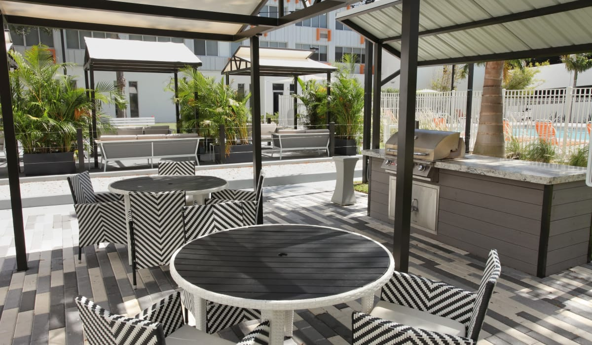 Barbecue area for resident use at Our Property in St Petersburg, Florida