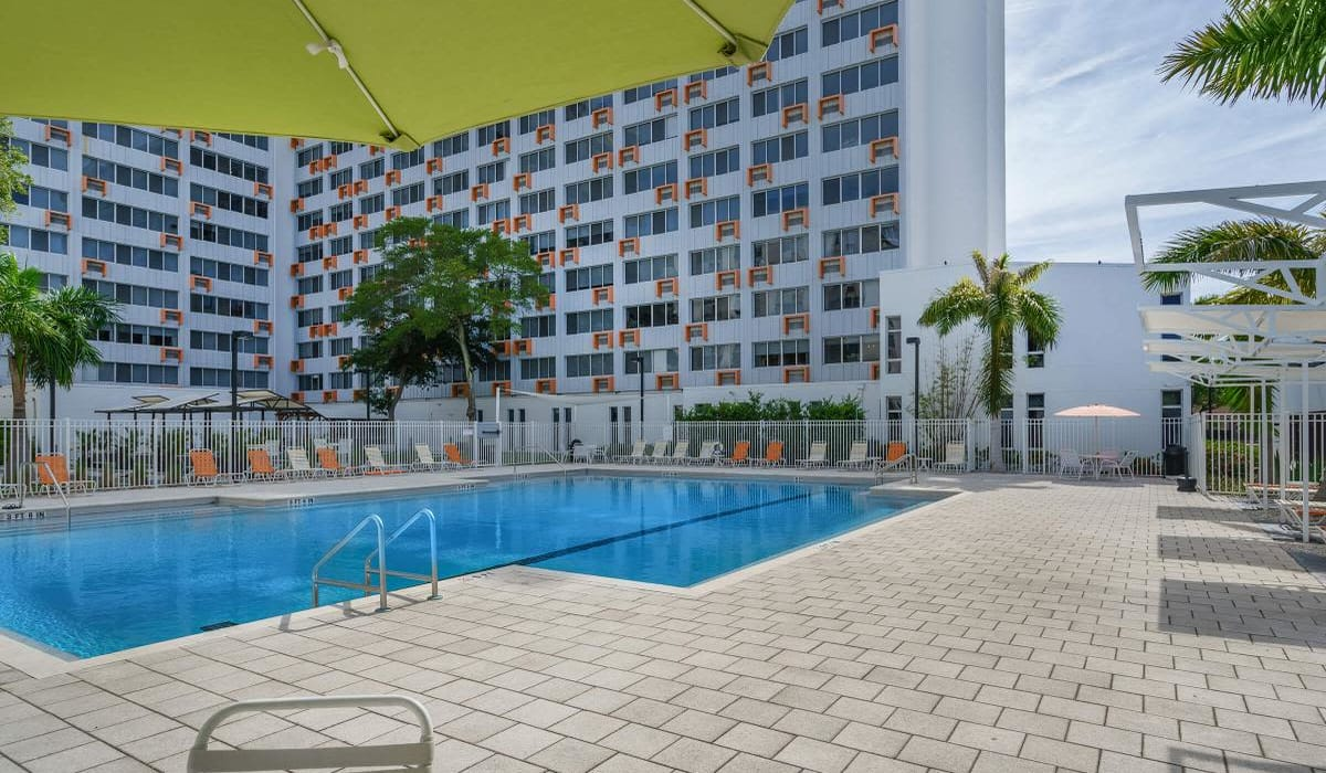 Beautiful swimming pool area at Our Property in St Petersburg, Florida