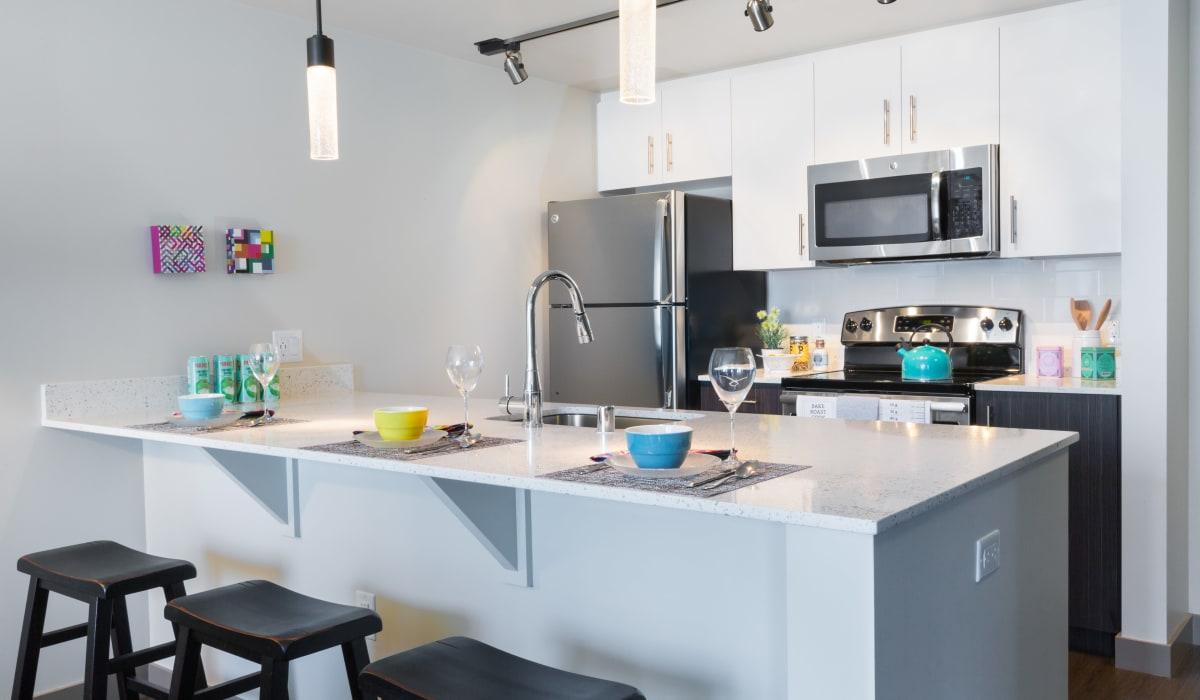 Bright kitchen at Cielo in Seattle, Washington