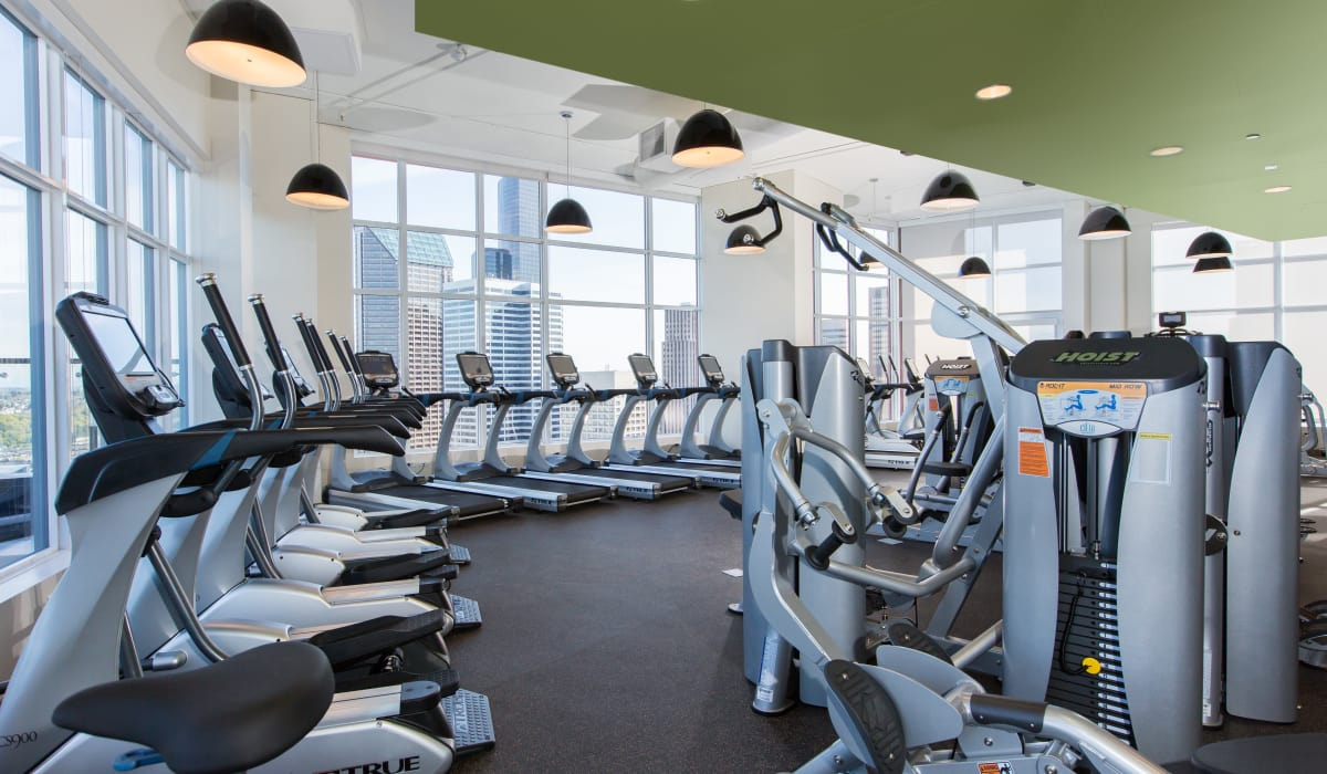 Fitness center for residents at Cielo in Seattle, Washington