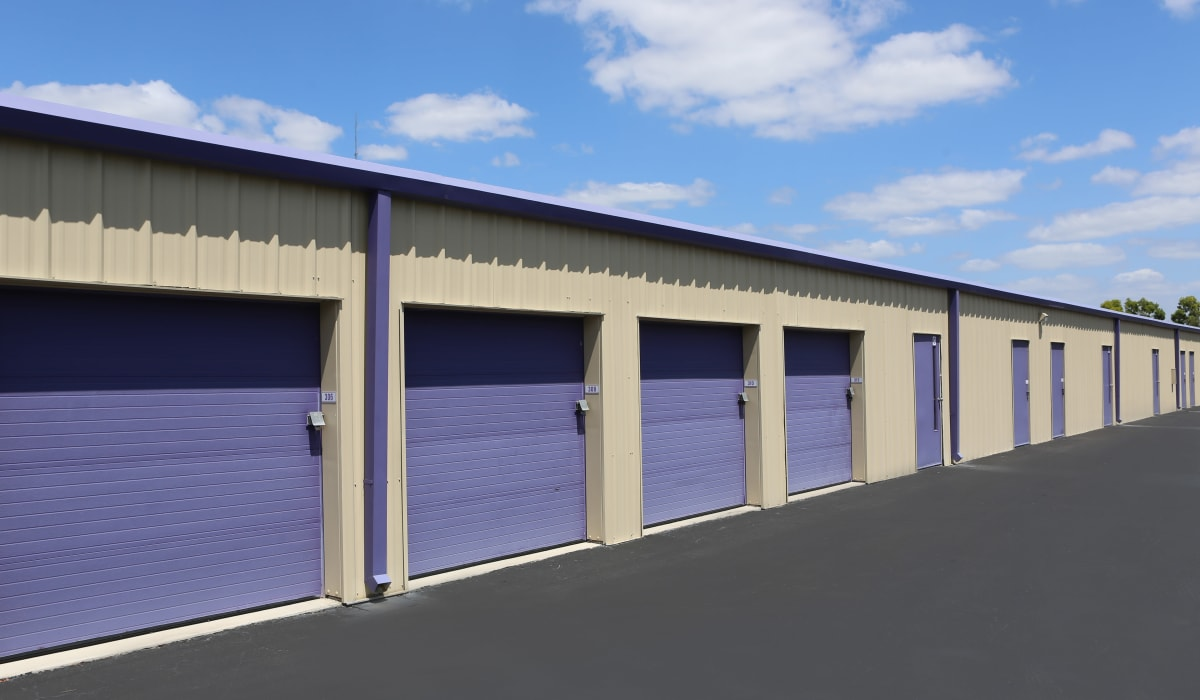 Exterior units at Midgard Self Storage in Jackson, Tennessee
