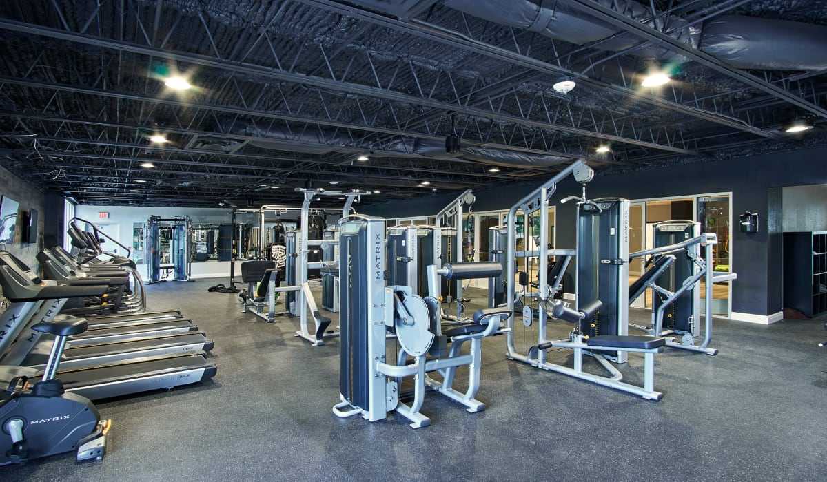 Onsite fitness center at The Wayland in St Petersburg, Florida