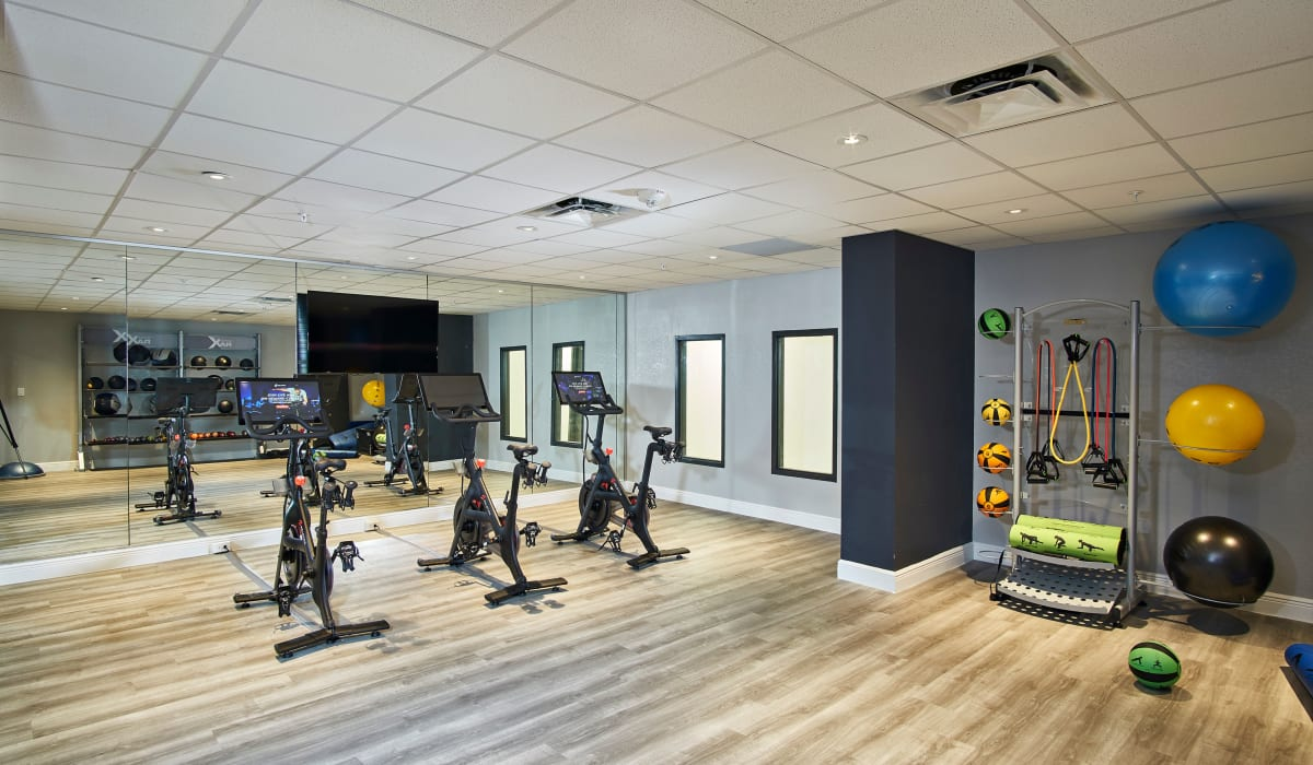 Workout facility at The Wayland in St Petersburg, Florida