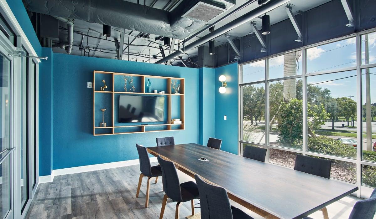 Onsite meeting room at The Wayland in St Petersburg, Florida
