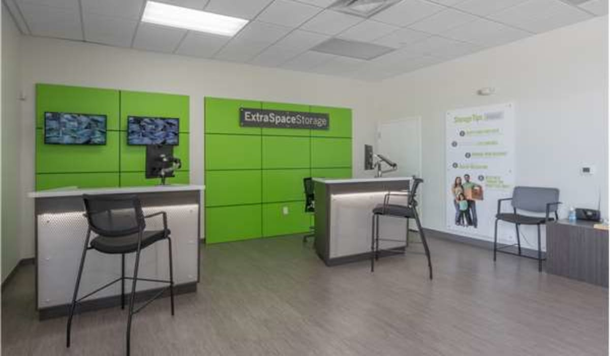 Inside of the office at Midgard Self Storage in Bradenton, Florida