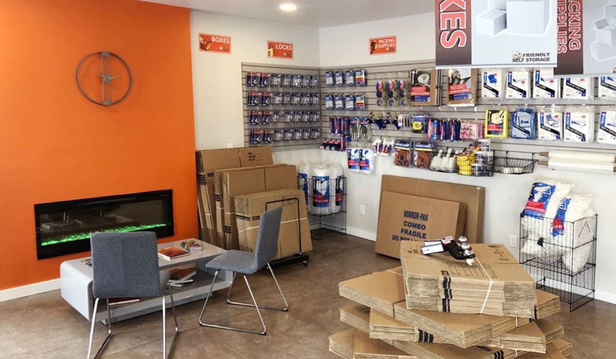 Packing supplies at Friendly Self Storage in Gypsum, Colorado
