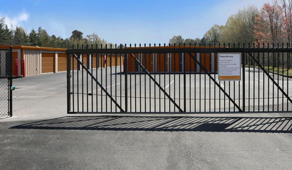 Security gate at Friendly Self Storage in Gypsum, Colorado