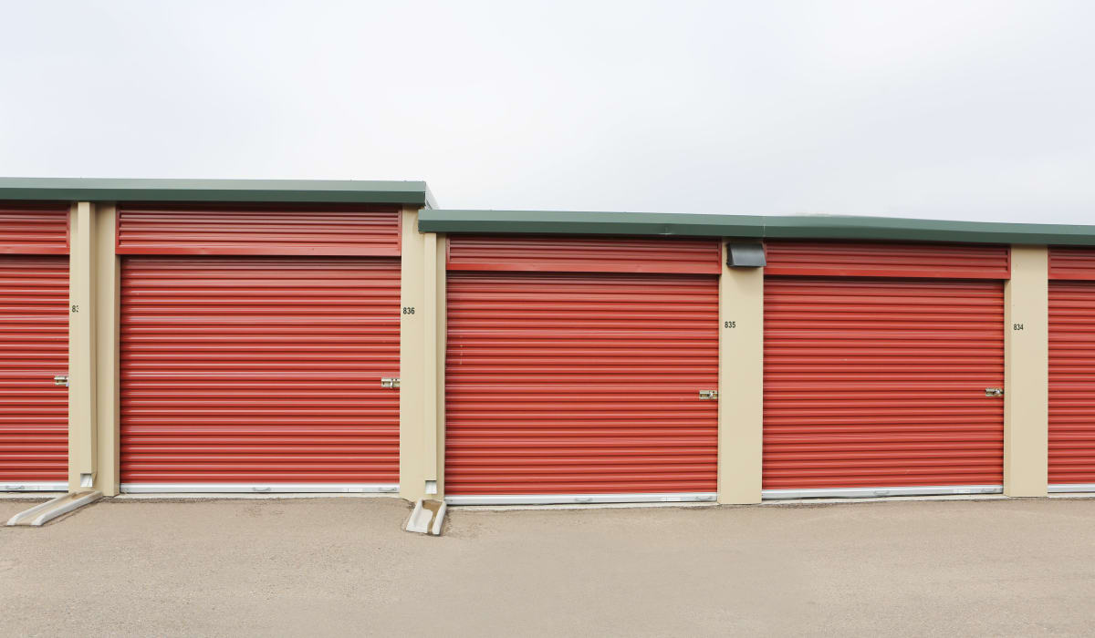Exterior units at Clover Basin Self-Storage in Longmont, Colorado