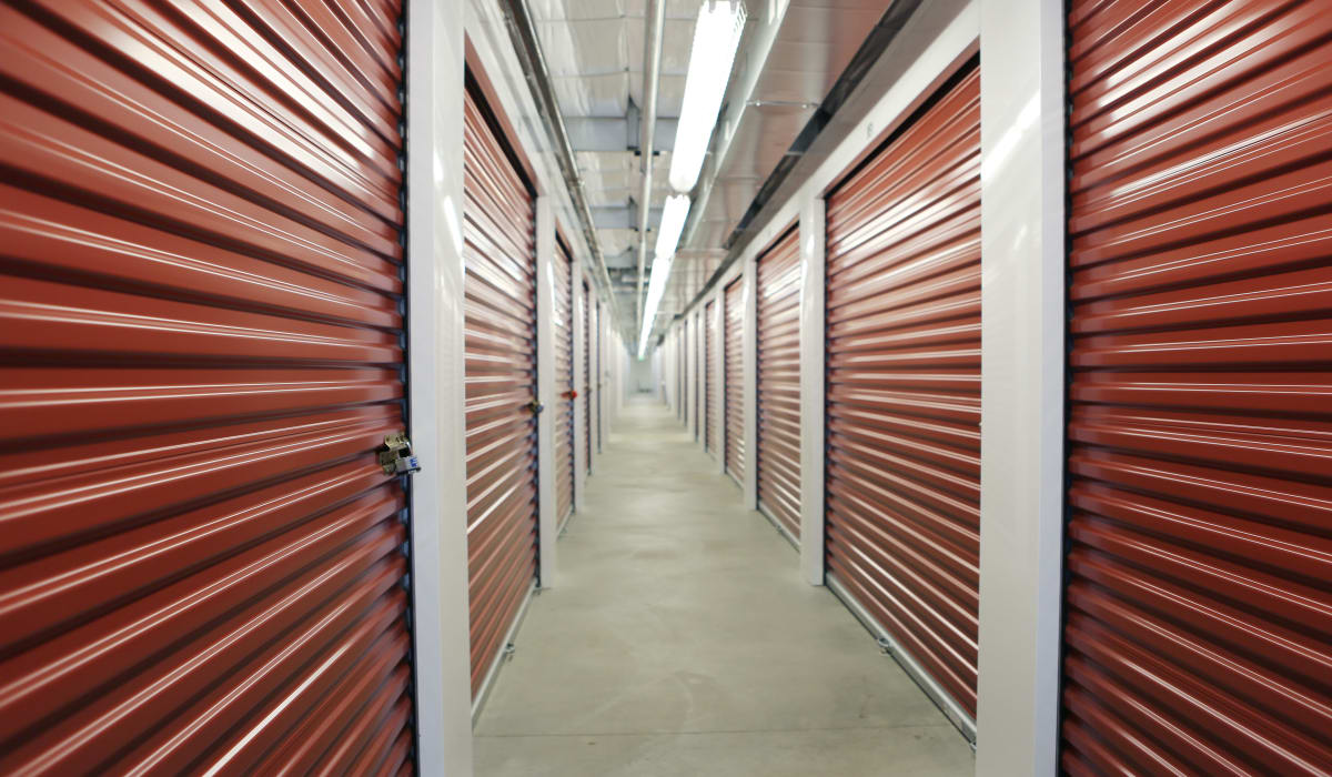 Interior units at Clover Basin Self-Storage in Longmont, Colorado