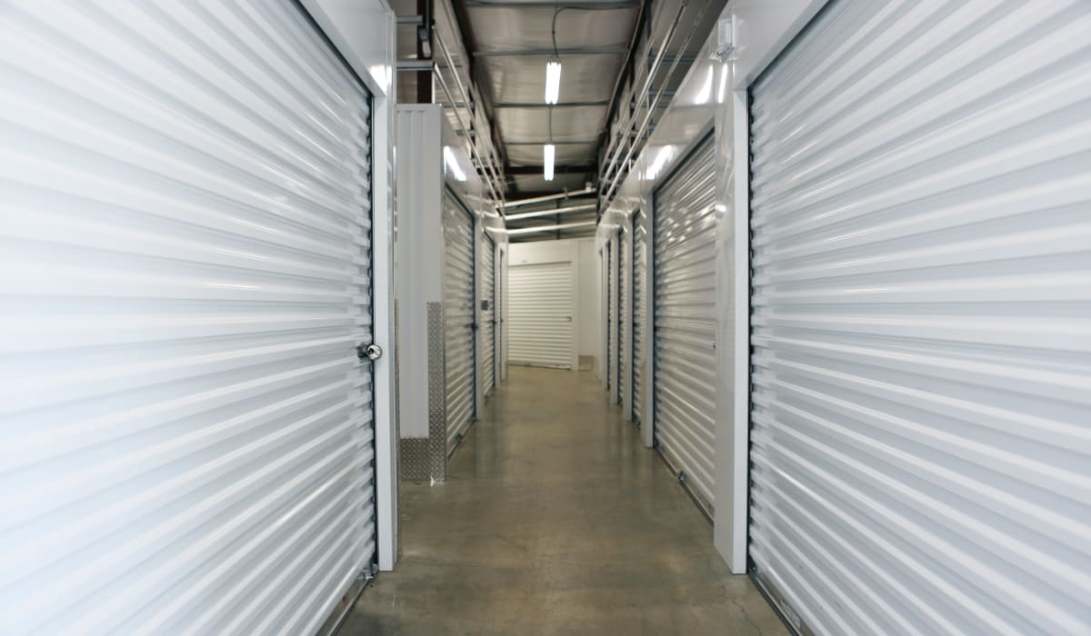 Interior units at Midgard Self Storage in Roswell, GA