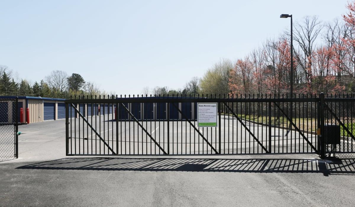 Security gate at Midgard Self Storage in Gainesville, GA