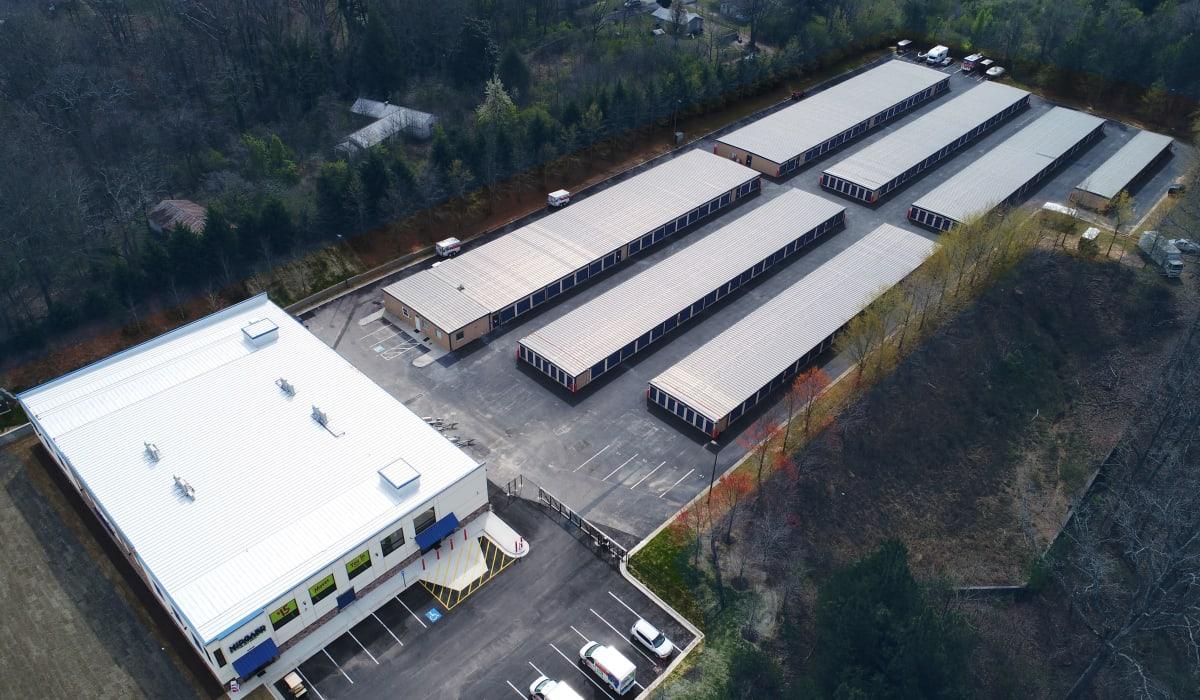 Overview of Midgard Self Storage in Gainesville, GA