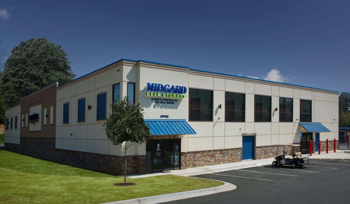Exterior of Midgard Self Storage in Gainesville, GA