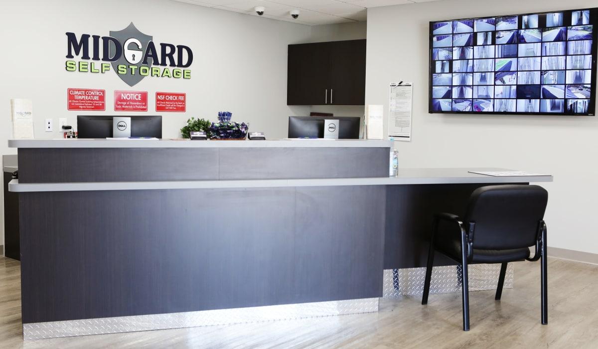Leasing office at Midgard Self Storage in Gainesville, GA