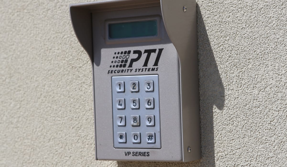 Keypad at Midgard Self Storage in Greenville, SC