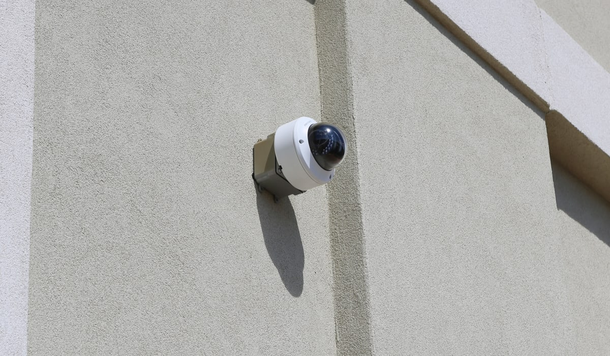 Security camera at Midgard Self Storage in Greenville, SC