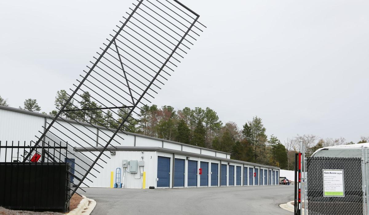 Security gate at Midgard Self Storage in Lake Wylie, South Carolina