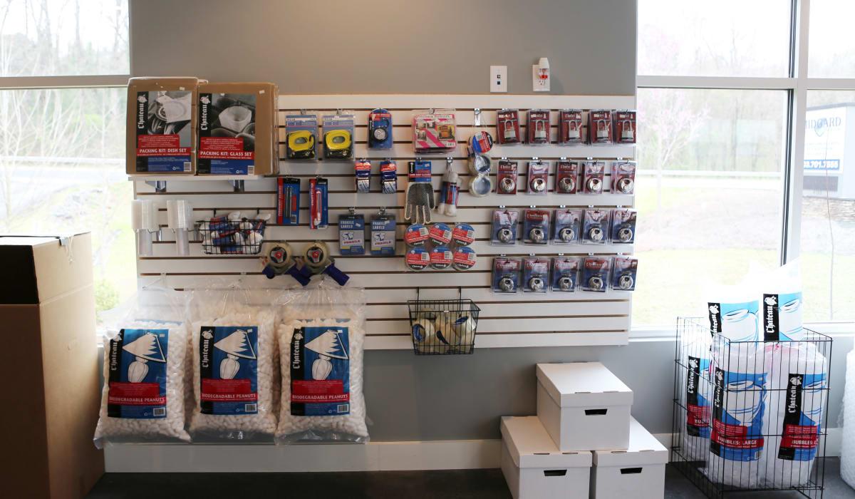 Packing supplies at Midgard Self Storage in Lake Wylie, South Carolina