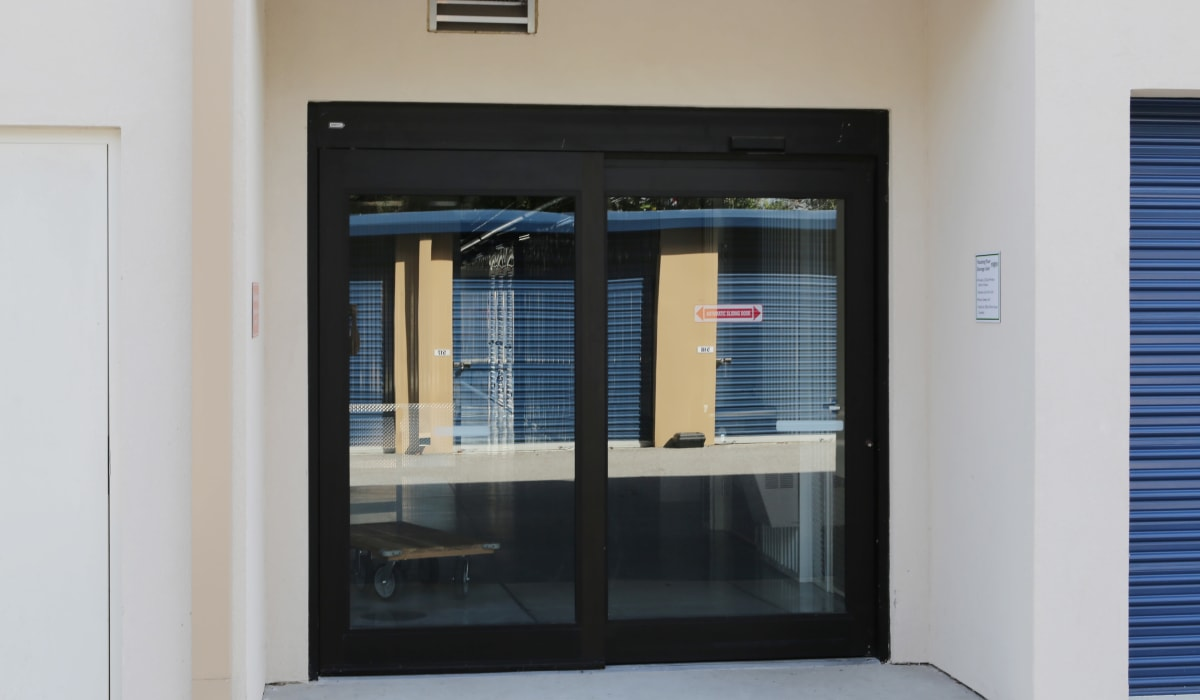 Entrance door at Midgard Self Storage in Bradenton, FL