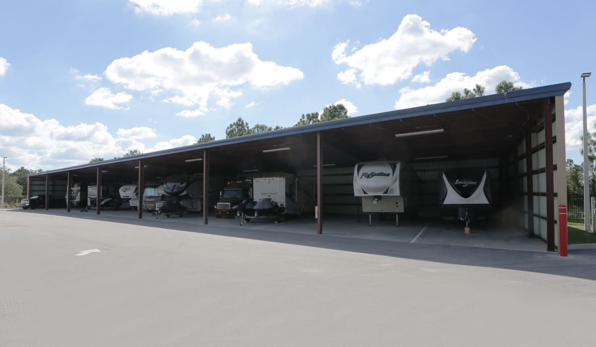 RV parking at Midgard Self Storage in Bradenton, FL
